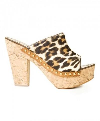Miu Miu zoccoli in sughero stampa ghepardo
