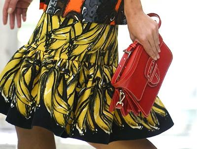 Prada gonna stampa Banane - Estate 2011