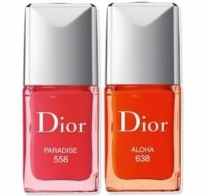 Smalti Dior, Vernis Electric Tropics Nail, Paradise Pink 558, Aloha 638