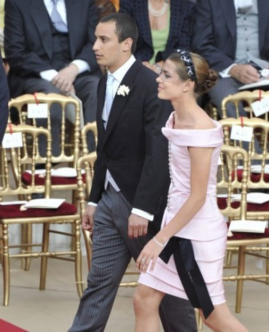 charlotte casiraghi in chanel al matrimonio di alberto
