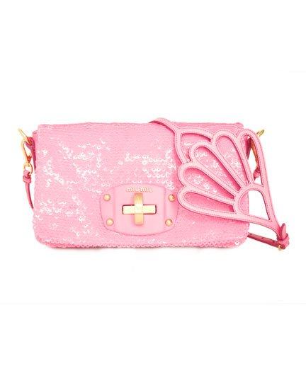 Borse A Spalla Miu Miu : Miu tracollina in paillettes rosa borse