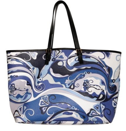 pucci borsa da spiaggia in pvc