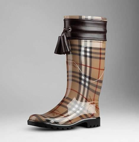 burberry stivali da pioggia