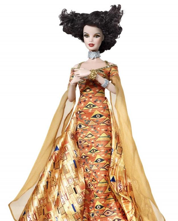 Barbie inspired by Gustav Klimt