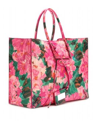 balenciaga borsa a fiori rosa