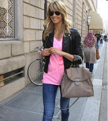 elena santarelli con borsa prada