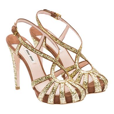 miu miu sandalo glitter