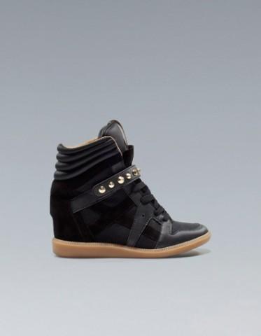 zara sneakers con zeppa