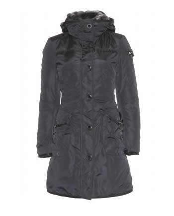 Peuterey giacca Hull con cappuccio nera
