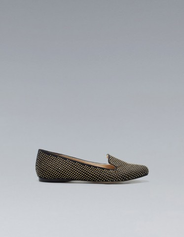 zara slippers con borchie