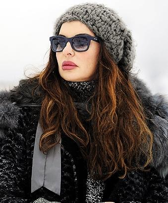 alba parietti con occhiali italian independent