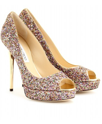 jimmy choo glitter open toe
