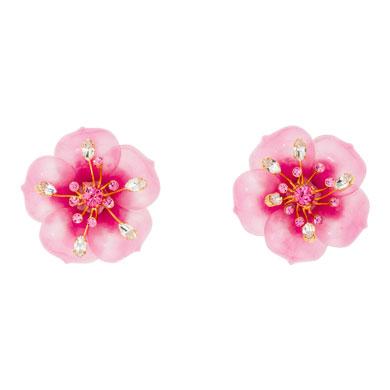 miu miu orecchini fiore rosa