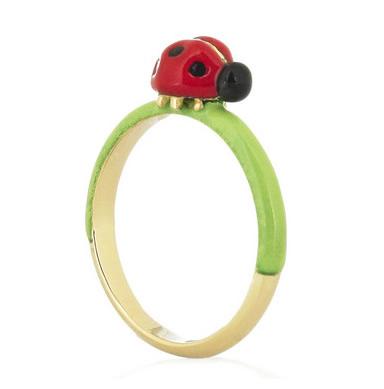 SOLANGE AZAGURY-PARTRIDGE anello coccinella