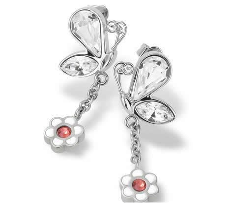 Swatch orecchini con farfalla e fiore