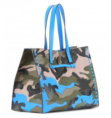 Valentino Camouflage shopping bag