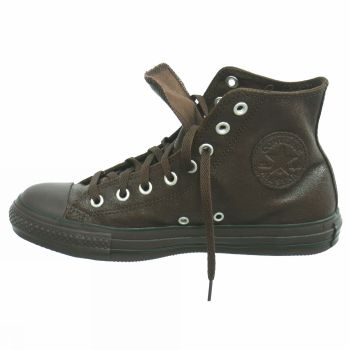 all star converse pelle marrone