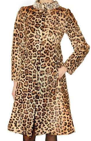 Cappotto pelliccia di leopardo